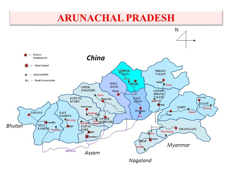 Arunachal Pradesh State & Health Profile Population13,82,611 (Census 2011) No.