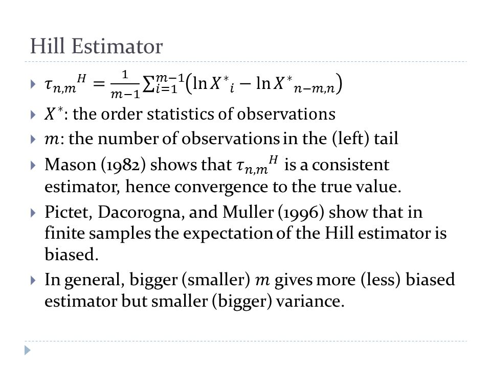 Hill Estimator