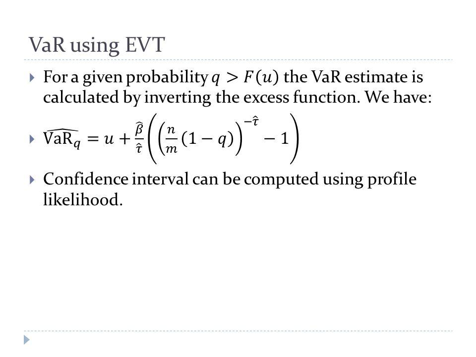VaR using EVT