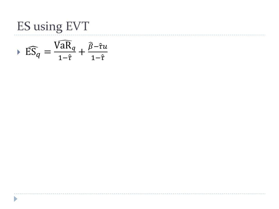 ES using EVT