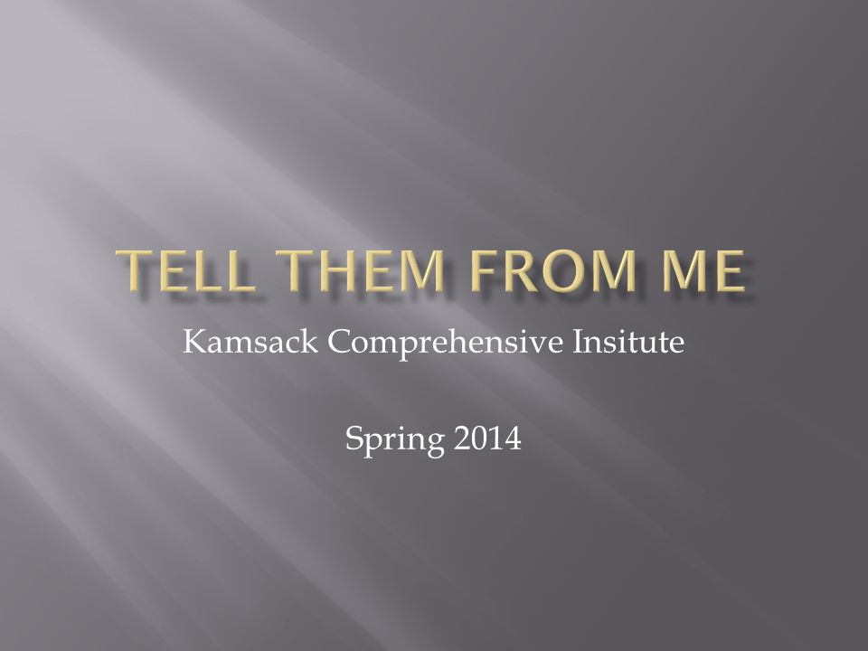 Kamsack Comprehensive Insitute Spring 2014