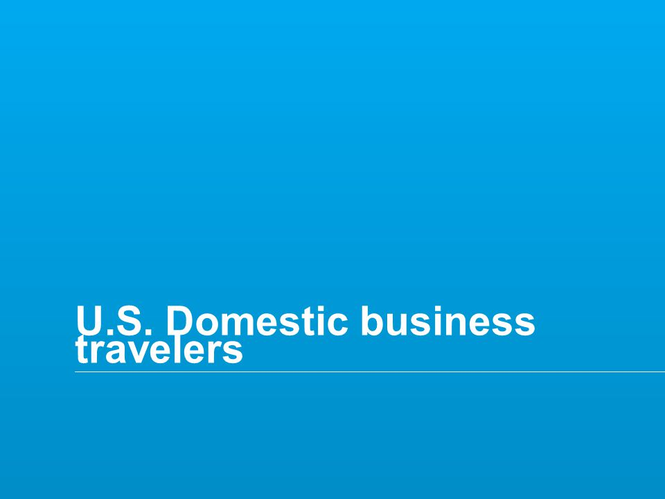 Copyright © 2014 Deloitte Tax LLP. All rights reserved. 37 U.S. Domestic business travelers