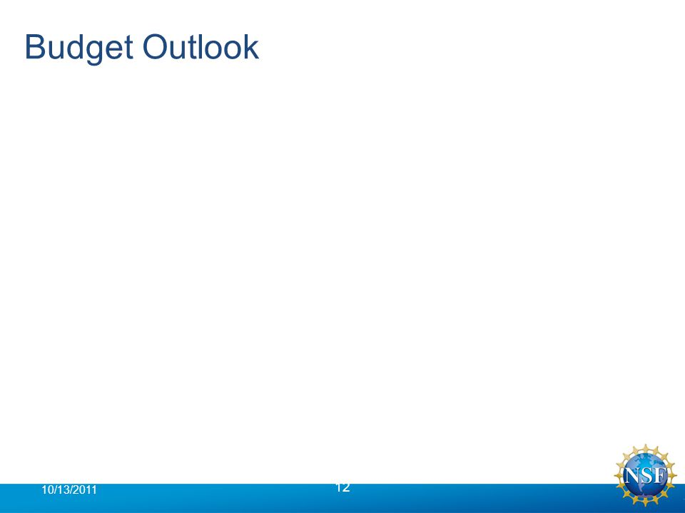 Budget Outlook 12 10/13/2011