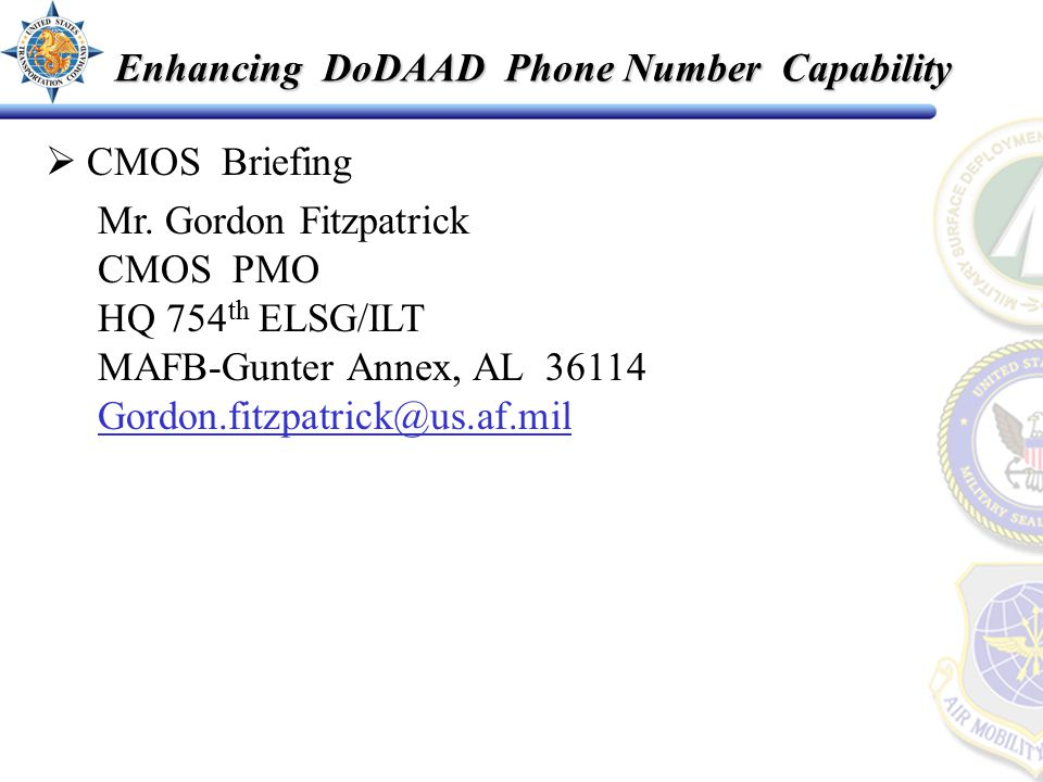  CMOS Briefing Mr.