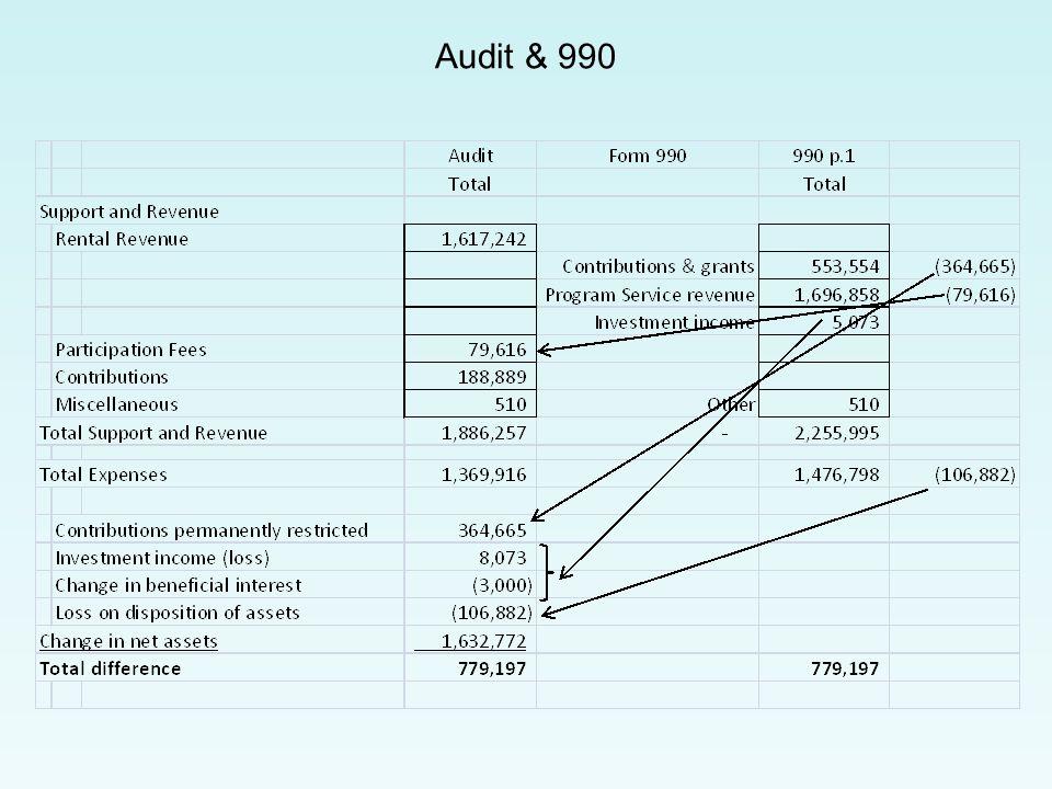 Audit & 990