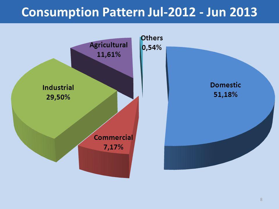 Consumption Pattern Jul-2012 - Jun 2013 8