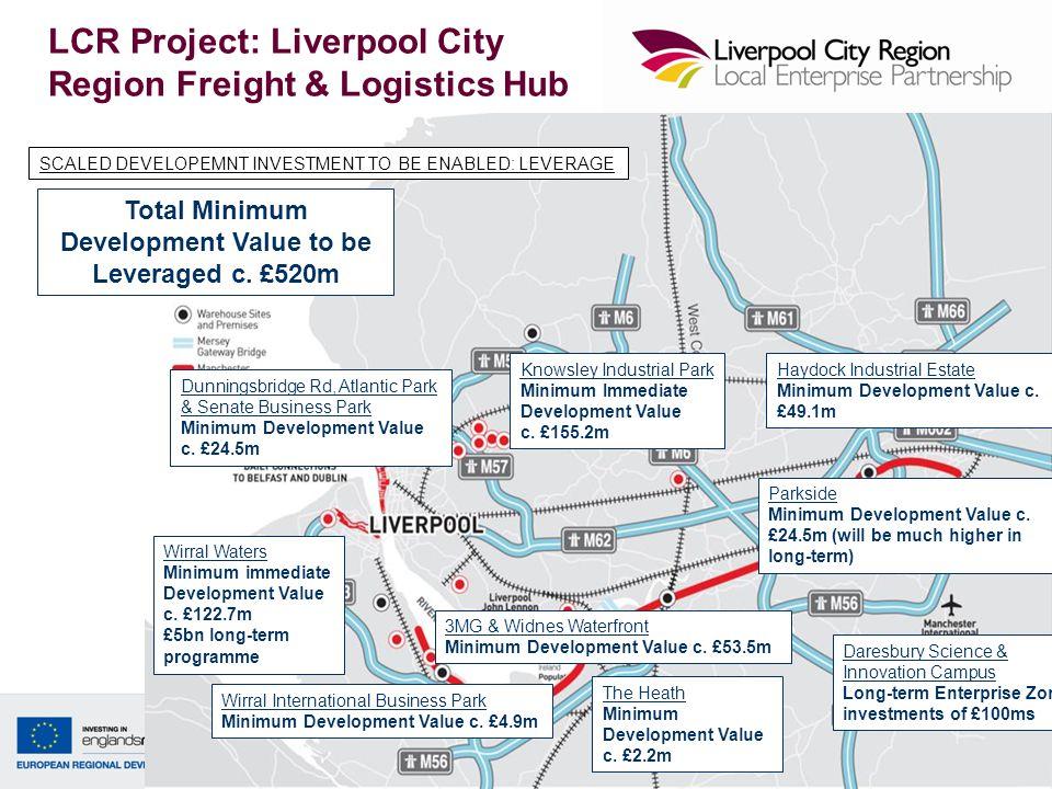 29 Wirral Waters Minimum immediate Development Value c. £122.7m £5bn long-term programme Parkside Minimum Development Value c. £24.5m (will be much hi