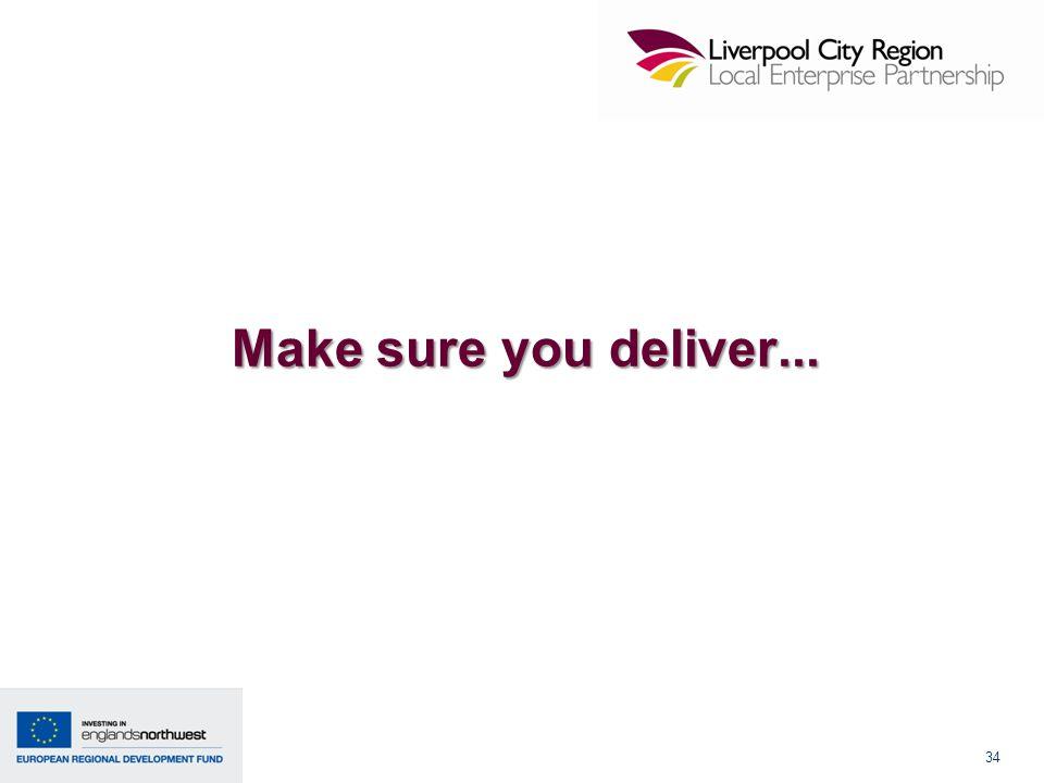 34 Make sure you deliver...