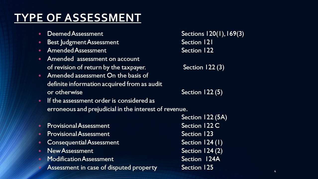 Assessment of Tax 35