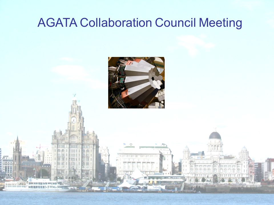 AGATA ACC Agenda 27 th June 2013, Liverpool 1.Minutes of the last meeting from Orsay 2012 2.Outstanding actions 3.Membership, ACC updates 4.Data policy 5.Publication procedure 6.Publications 7.Report from AMB 8.Report from ASC 9.Web page 10.The open meeting and EGAN workshop 11.Next annual meeting 12.