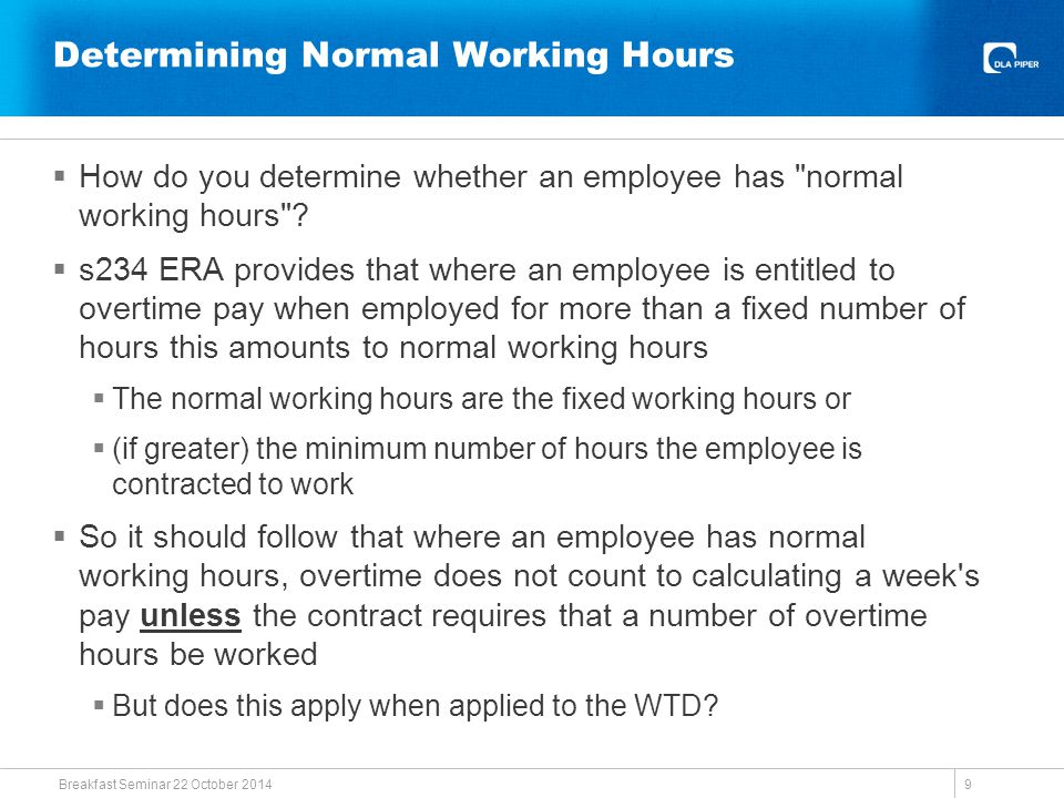 Voluntary Overtime  Bamsey v Albon Engineering & Manufacturing plc  Is the ERA compatible with the WTD.