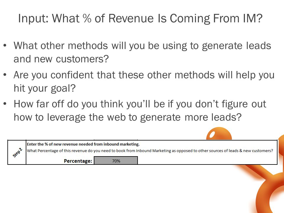 Input: What % of Revenue Is Coming From IM.