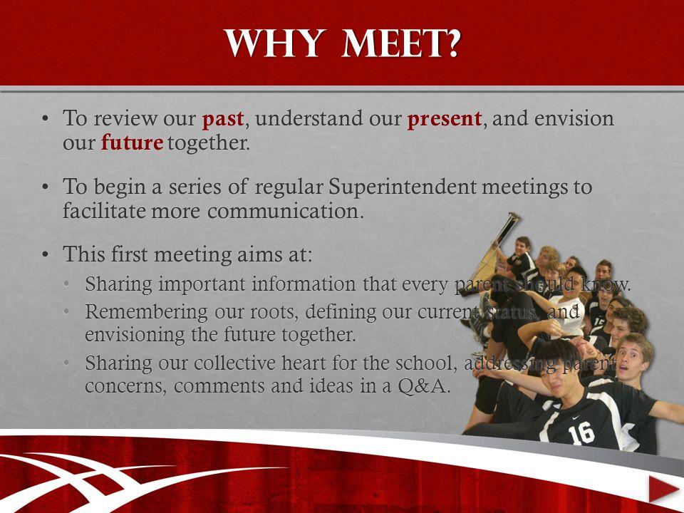 Why meet.