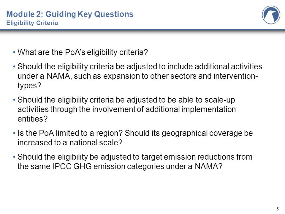 6 How is the baseline set in the PoA.Is the baseline setting applicable to a NAMA.