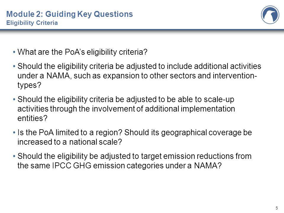5 What are the PoA's eligibility criteria.