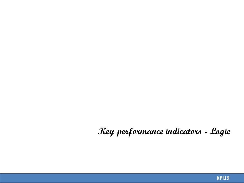 Key performance indicators - Logic KPI19