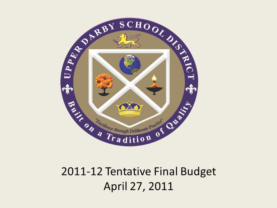 2011-12 Tentative Final Budget April 27, 2011