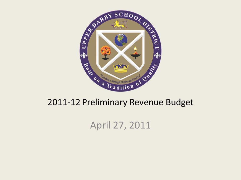 2011-12 Preliminary Revenue Budget April 27, 2011