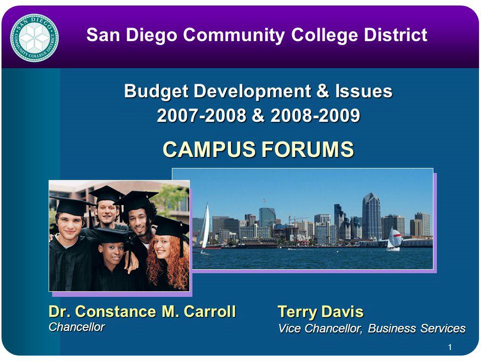 1 Budget Development & Issues 2007-2008 & 2008-2009 Dr.