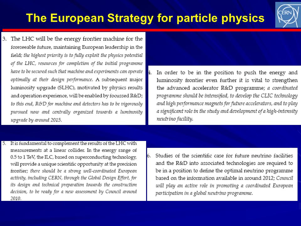 The European Strategy for particle physics