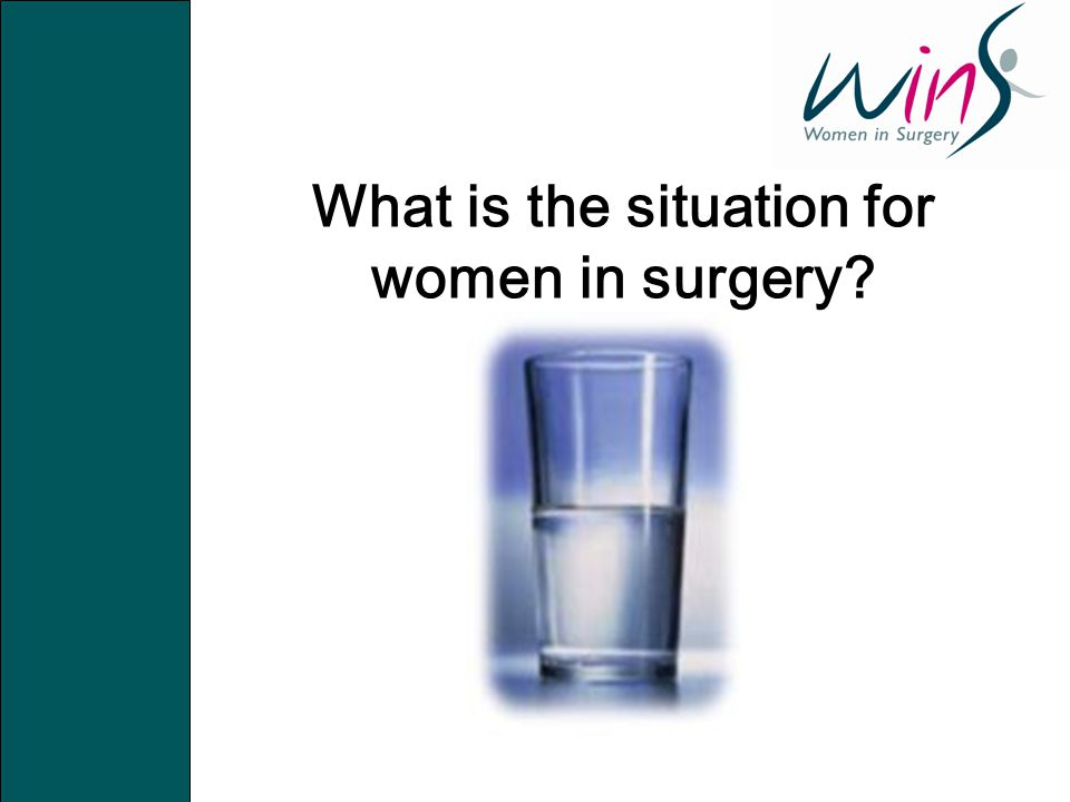 What is the situation for women in surgery?