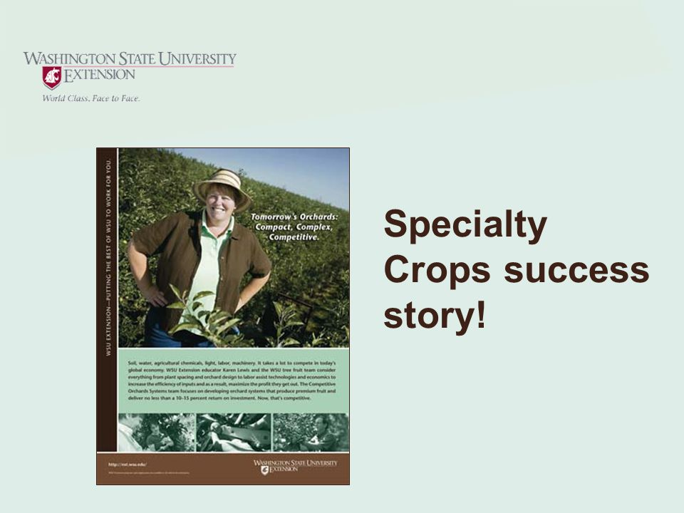 Specialty Crops success story!