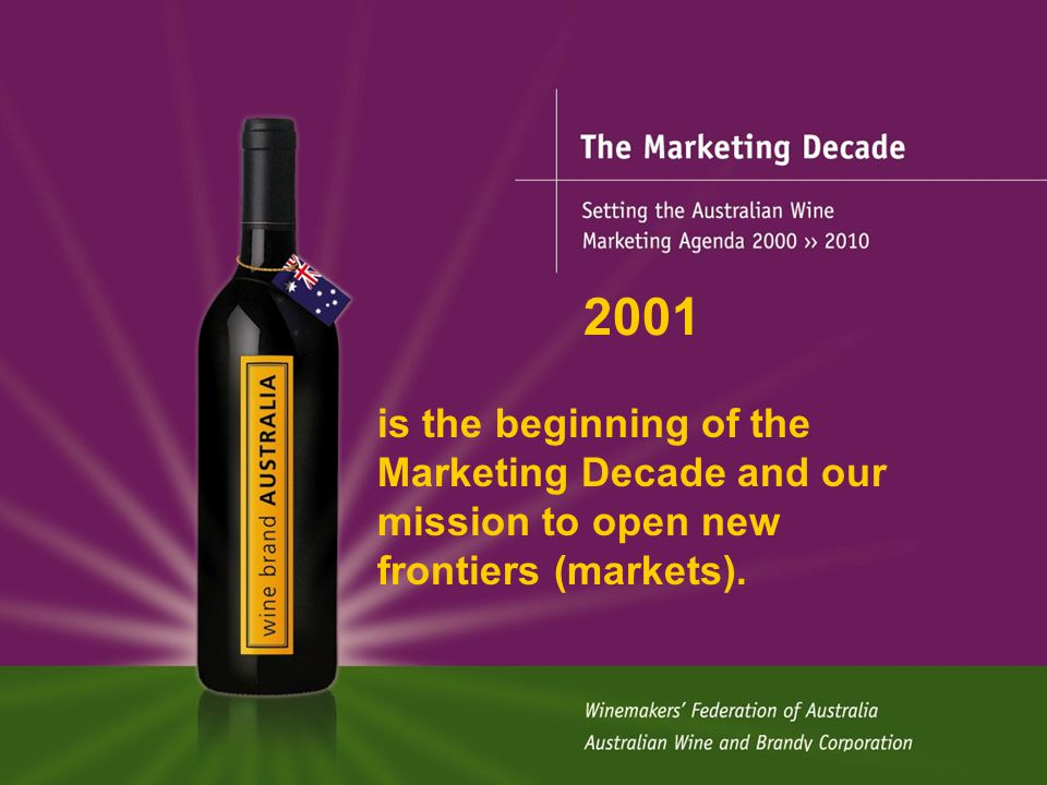 The Marketing Decade Supply-Demand Equation Degree to which oversupply is eliminated depends on Grape quality response Success in development of new markets Promotion effectiveness