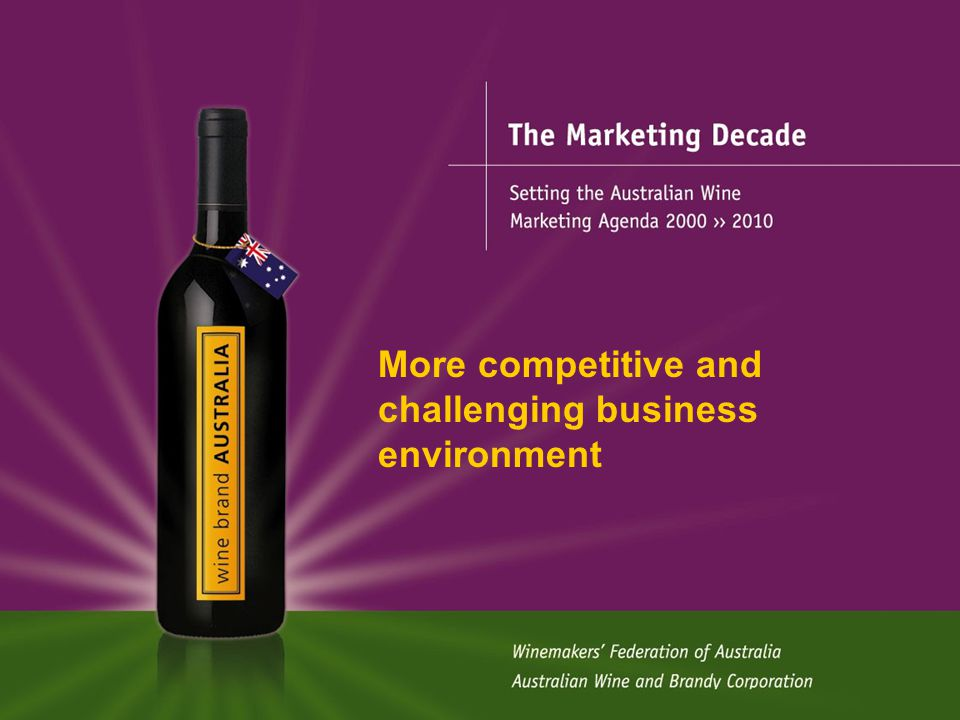 The Marketing Decade More competitive and challenging business environment