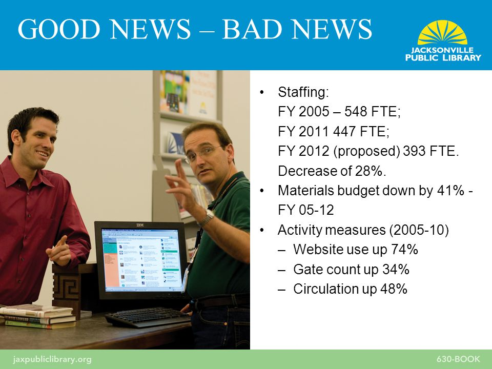 Staffing: FY 2005 – 548 FTE; FY 2011 447 FTE; FY 2012 (proposed) 393 FTE.