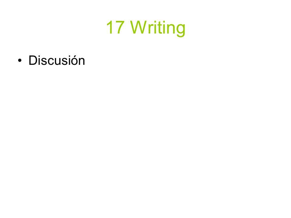 17 Writing Discusión