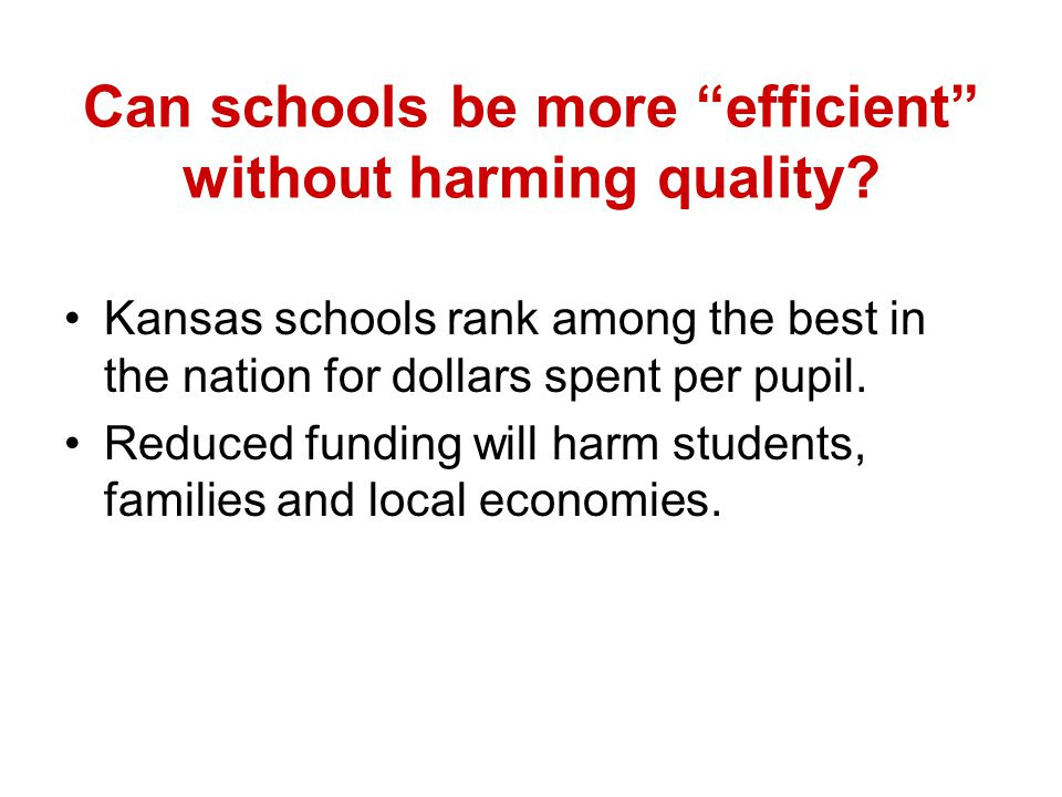 Can schools be more efficient without harming quality.