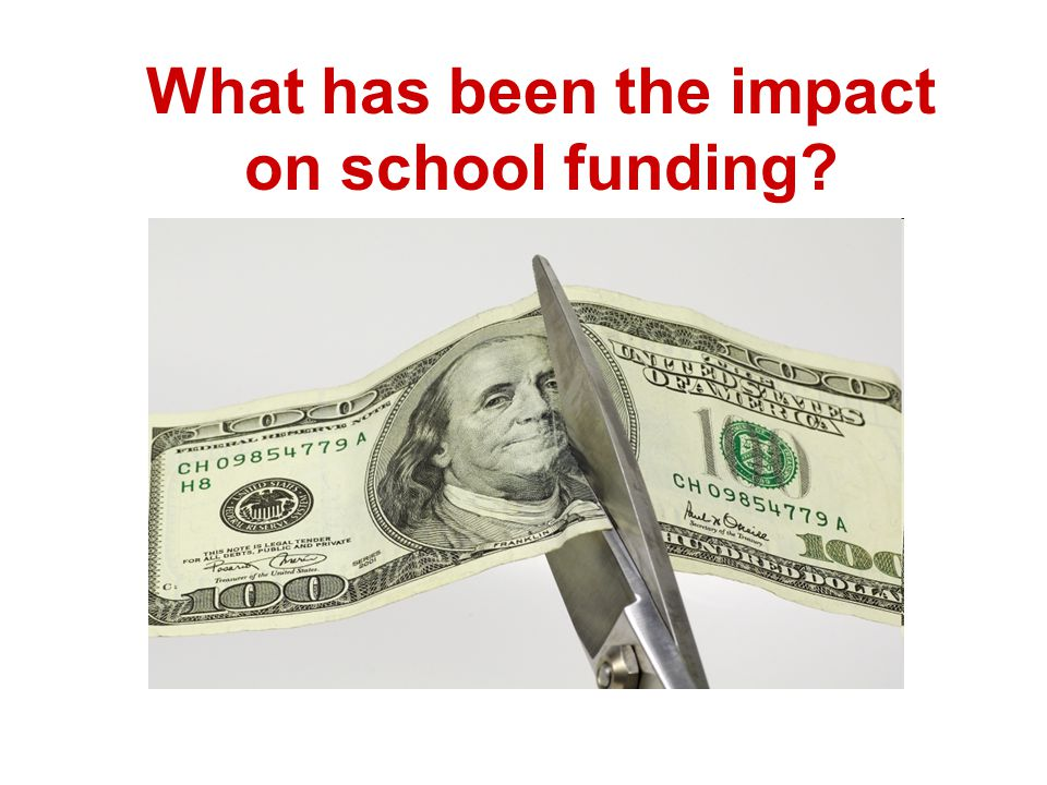 What has been the impact on school funding