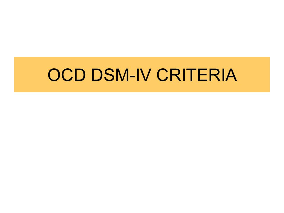 OCD Prognosis OCD tends to last for years, even decades.