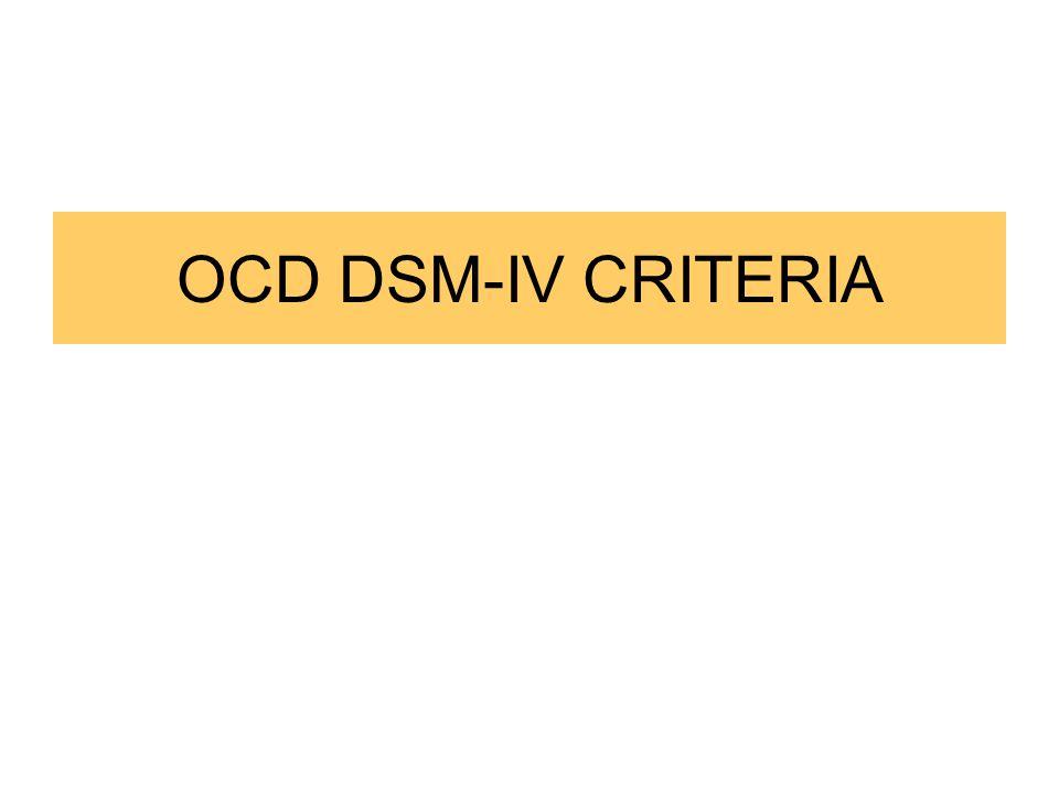 OCD DSM-IV CRITERIA