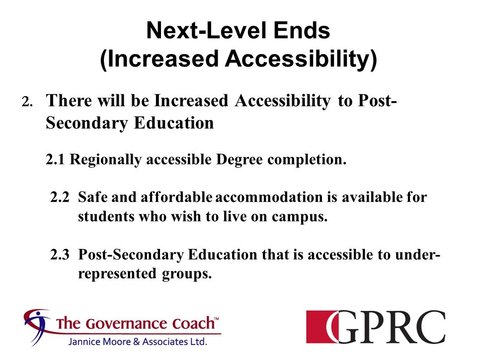 Next-Level Ends (Increased Accessibility) 2.