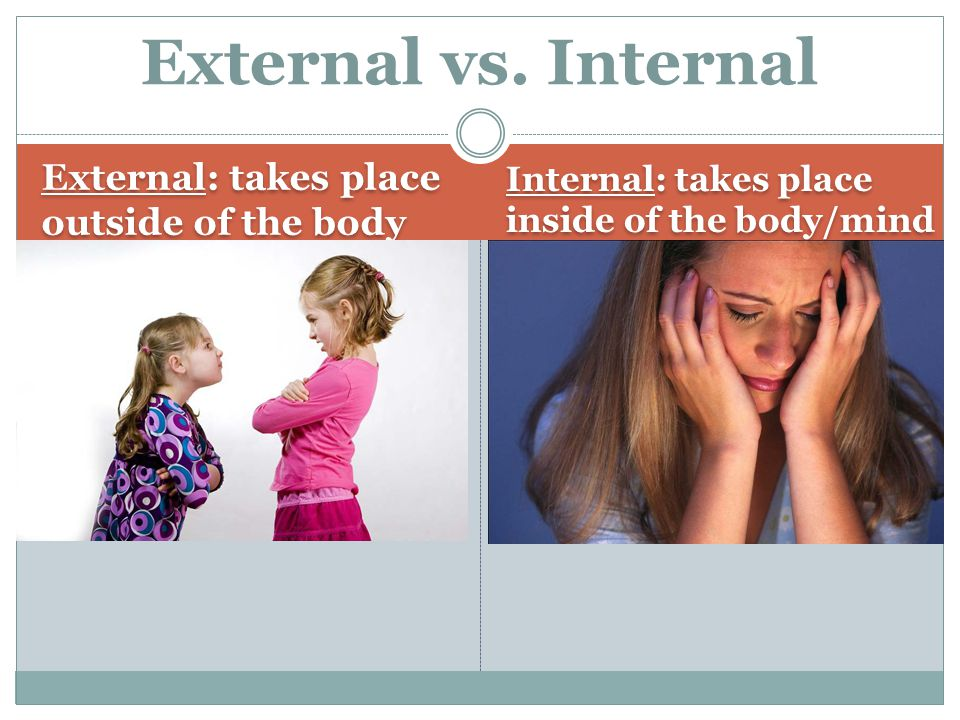 External Conflict There are three (3) types of external conflict.