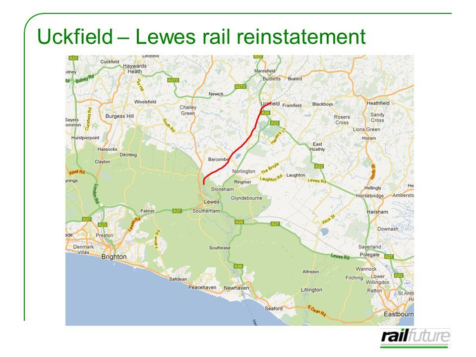 Uckfield – Lewes rail reinstatement