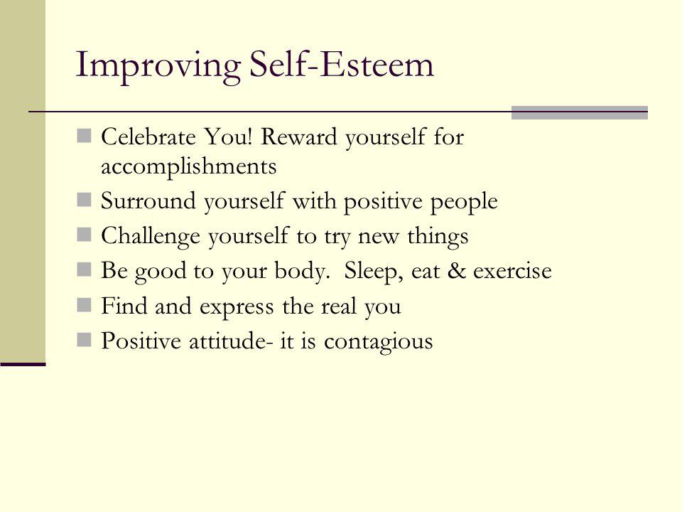 Improving Self-Esteem Celebrate You.