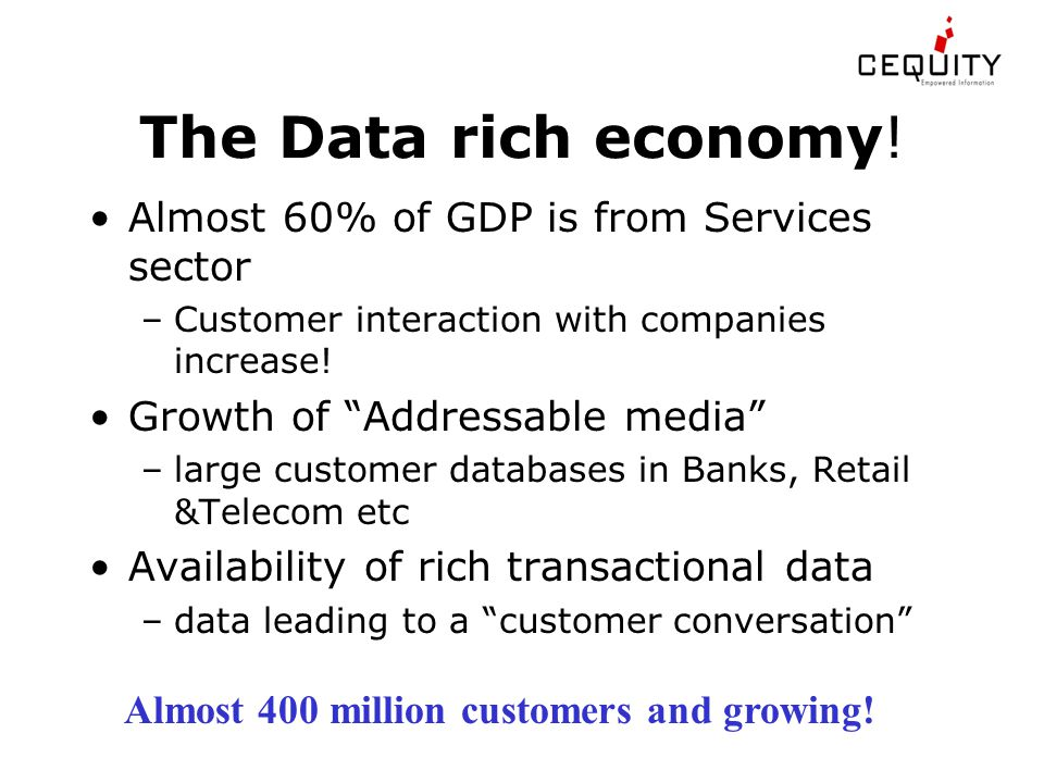 The Data rich economy.