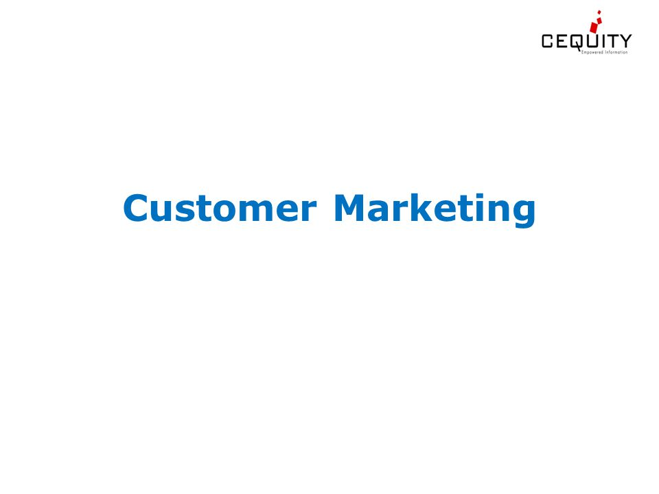 Customer Marketing