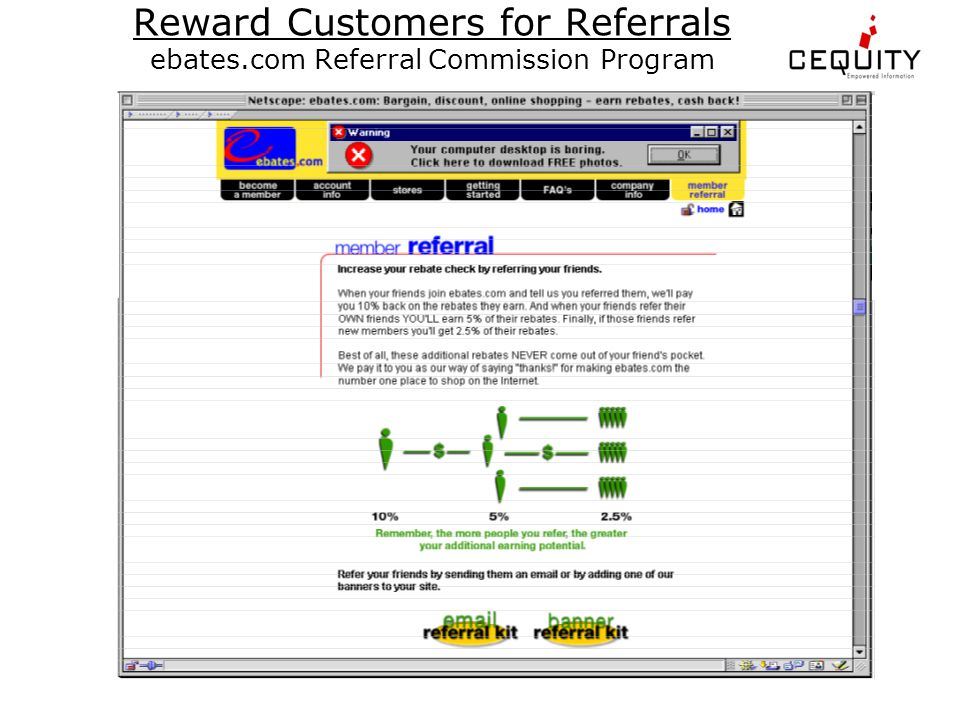 Reward Customers for Referrals ebates.com Referral Commission Program