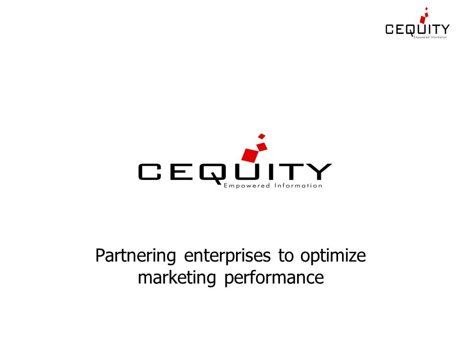 Partnering enterprises to optimize marketing performance