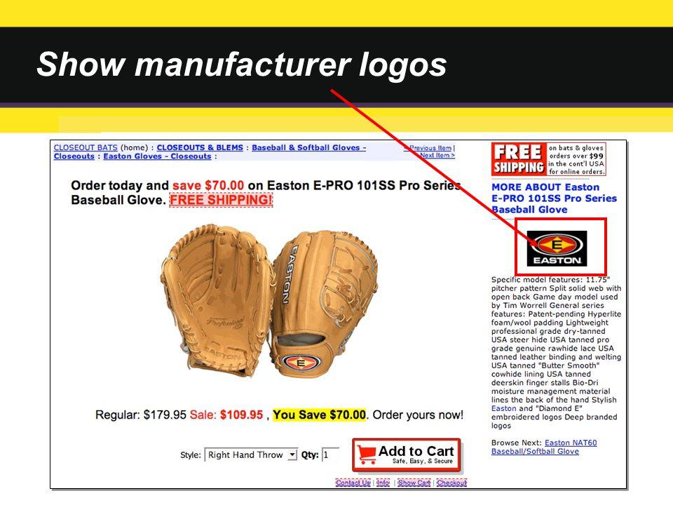 Show manufacturer logos