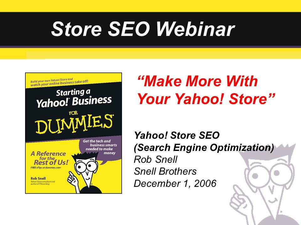 Store SEO Webinar Yahoo.