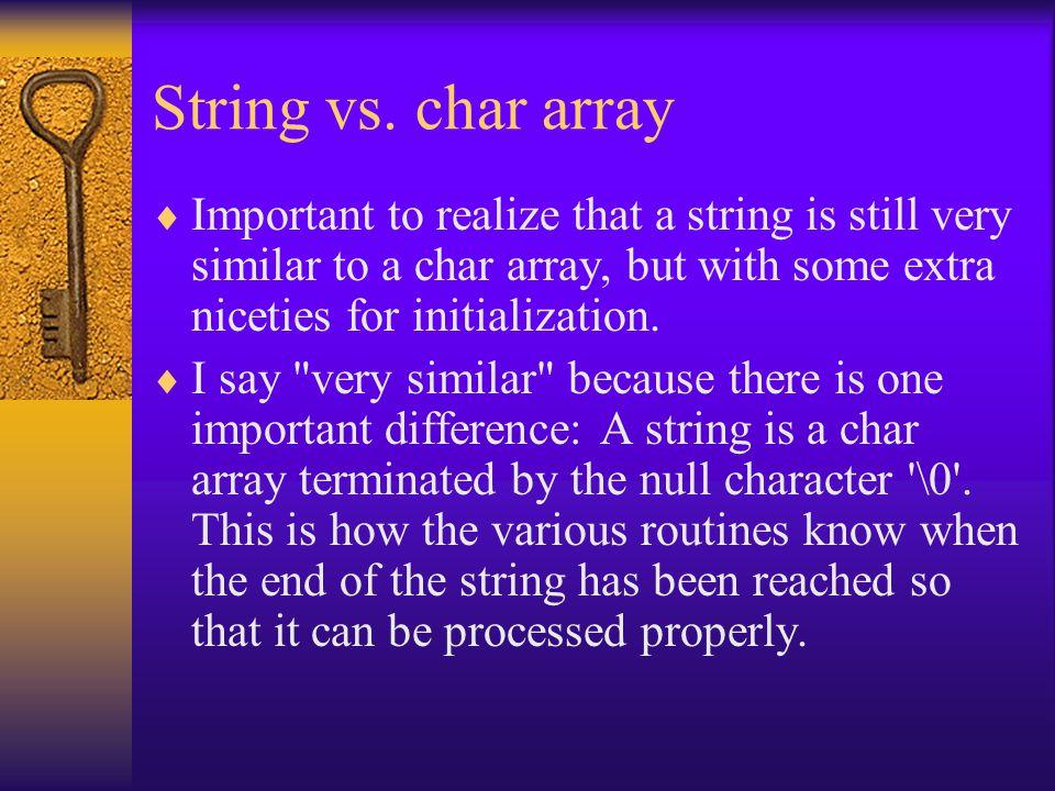 String vs.