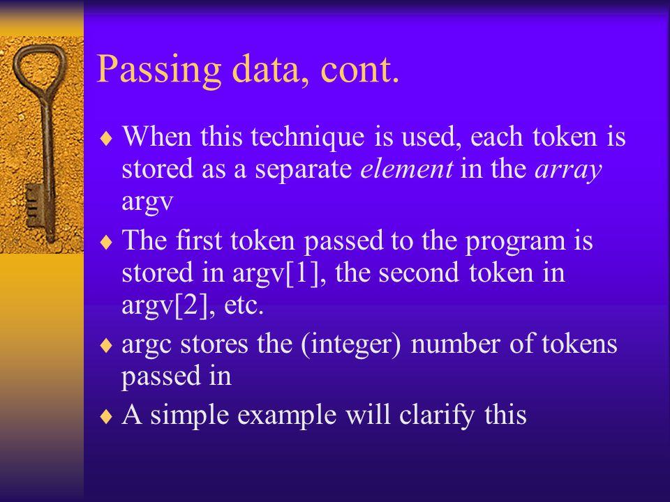 Passing data, cont.