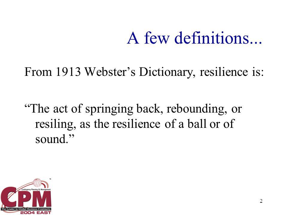 2 A few definitions...