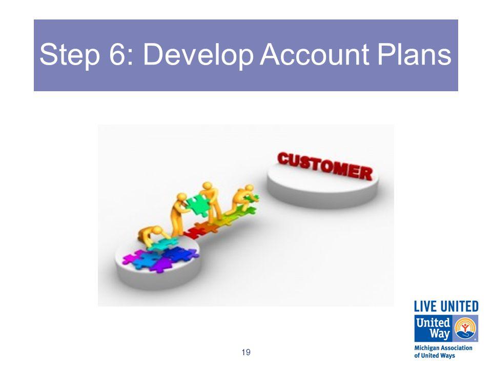Step 6: Develop Account Plans 19