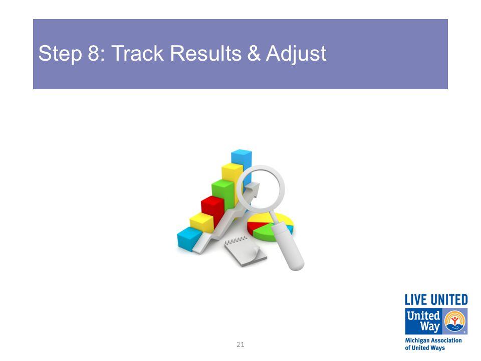 Step 8: Track Results & Adjust 21