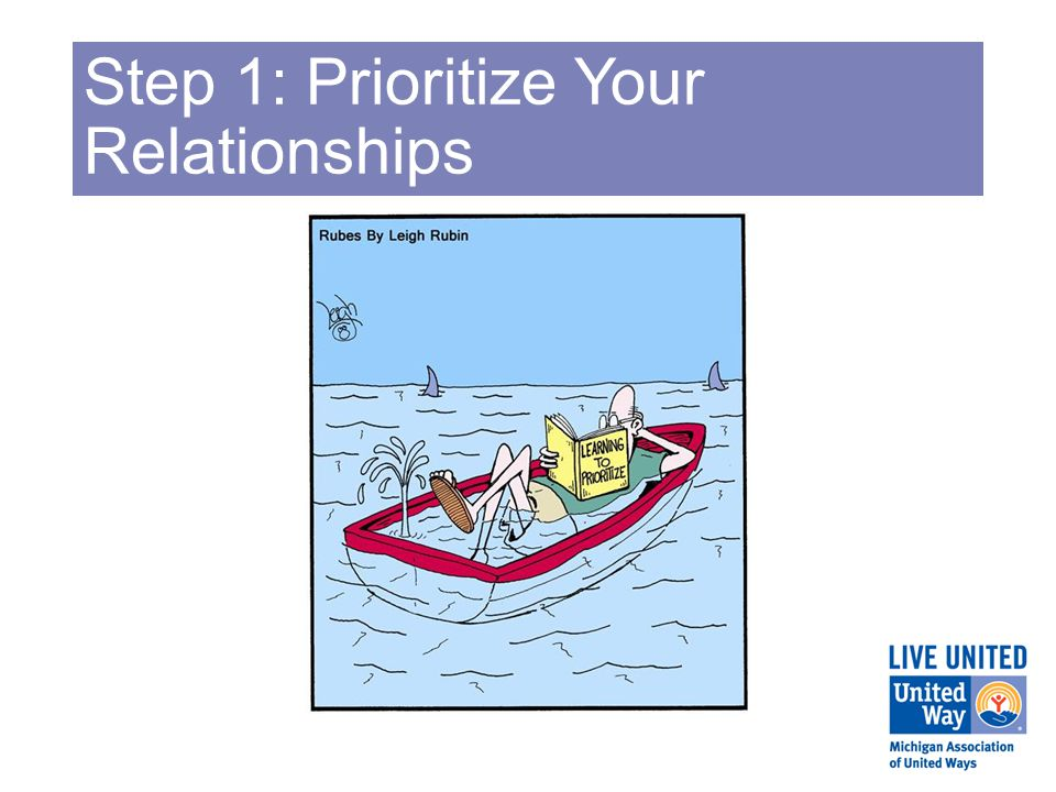 Step 1: Prioritize Your Relationships